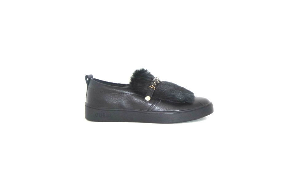 GUESS FLRN23LEA12 SLIP ON DONNA IN PELLE NERO