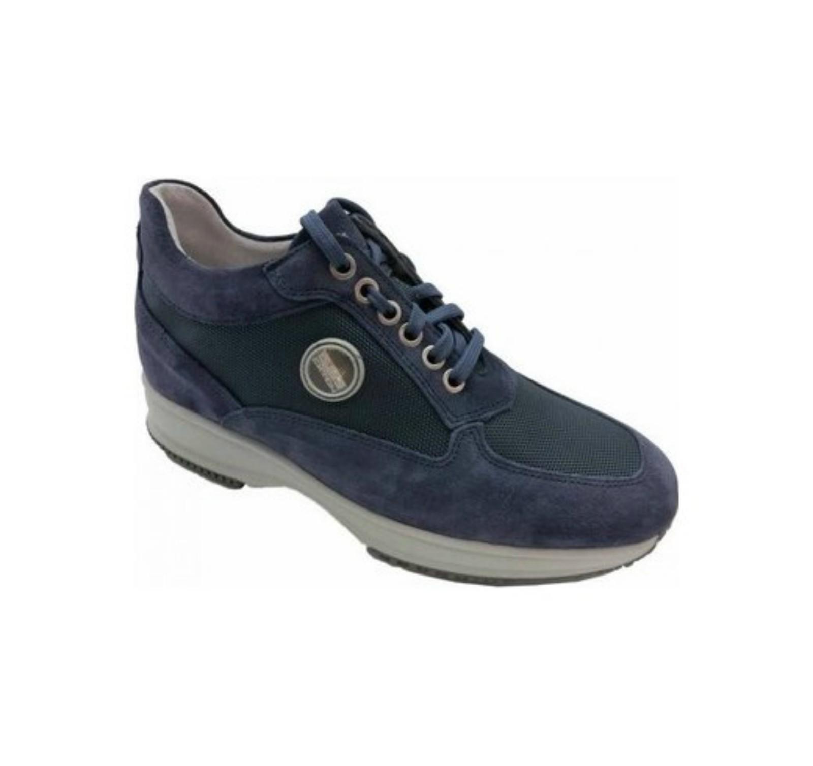 2029 Sneakers Uomo In Calzature BluBini ItalianoExton Camoscio 3lFTK1Jc