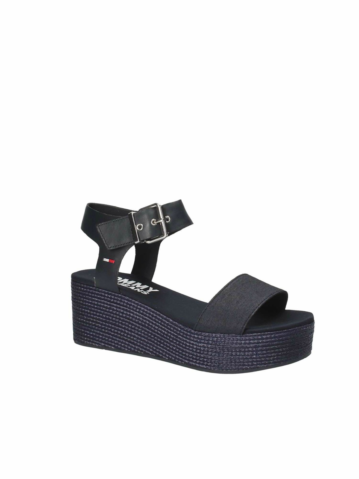TOMMY HILFIGER EN0EN00221 MIDNIGHT SANDALI IN DENIM CON ZEPPA