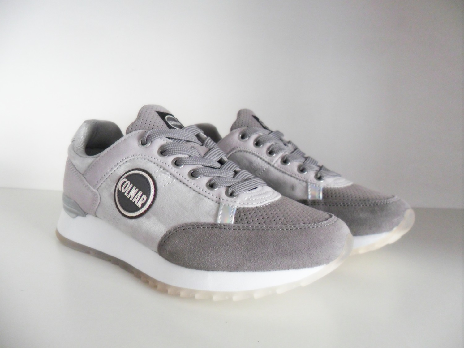 TRAVIS PUNK 119 DARK GREYSILVER SNEAKERS DONNA IN PELLE E CAMOSCIO