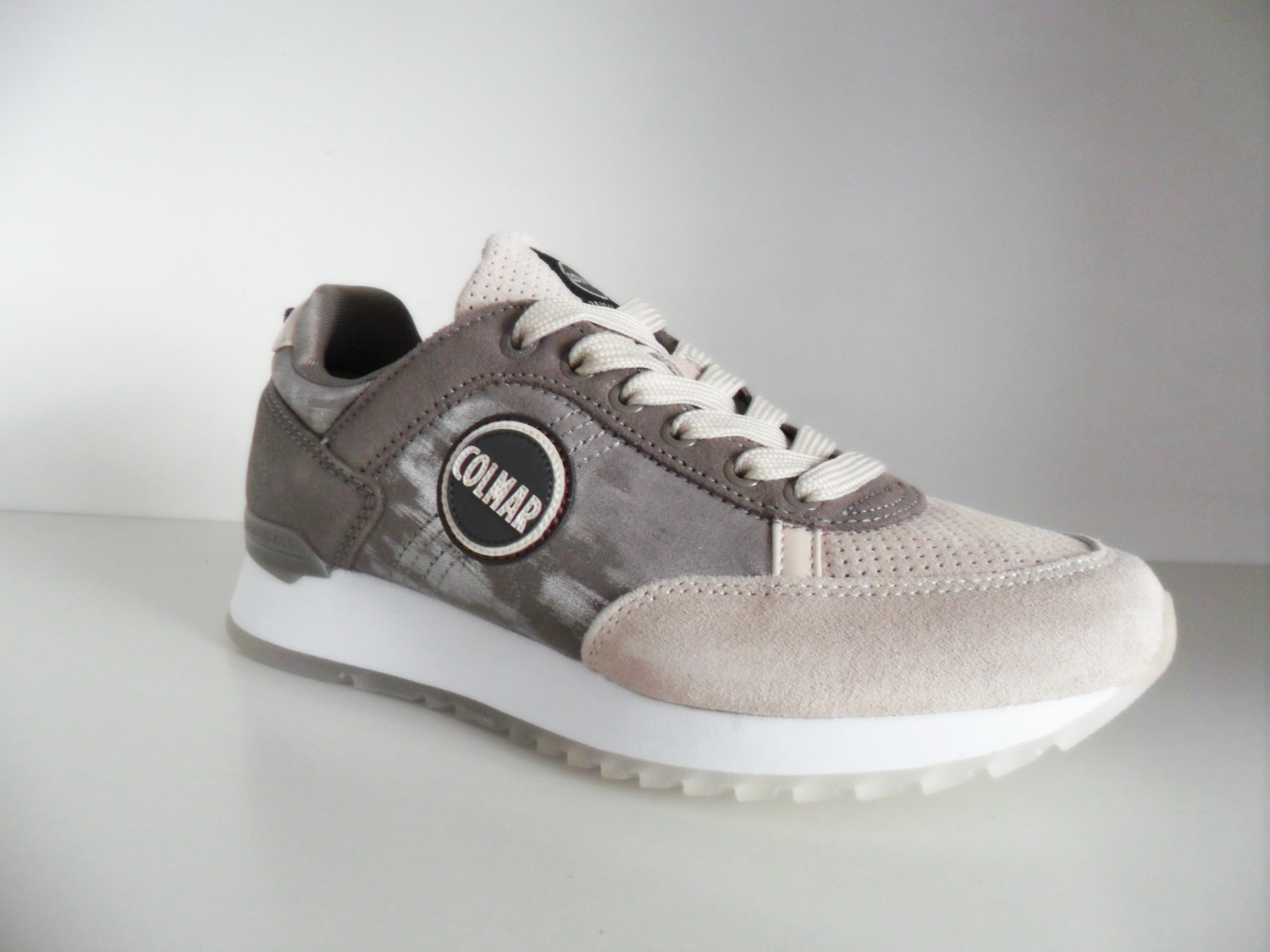 TRAVIS PUNK 120 BEIGE SNEAKERS DONNA IN PELLE E CAMOSCIO  268150b2141