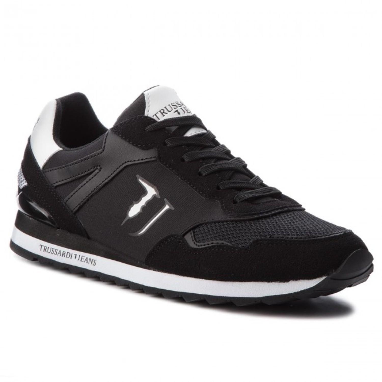 TRUSSARDI 77A00109 BLACKWHITE SNEAKERS UOMO RUNNING